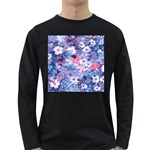 Spring Flowers Blue Mens' Long Sleeve T-shirt (Dark Colored)