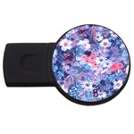 Spring Flowers Blue 4GB USB Flash Drive (Round)