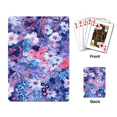 Spring Flowers Blue Playing Cards Single Design by ImpressiveMoments
