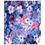 Spring Flowers Blue Canvas 8  x 10  (Unframed)