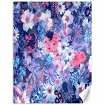 Spring Flowers Blue Canvas 12  x 16  (Unframed)