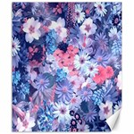 Spring Flowers Blue Canvas 20  x 24  (Unframed)