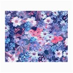 Spring Flowers Blue Glasses Cloth (Small, Two Sided)