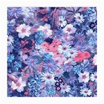 Spring Flowers Blue Glasses Cloth (Medium, Two Sided)