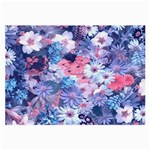 Spring Flowers Blue Glasses Cloth (Large)