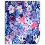 Spring Flowers Blue Canvas 11  x 14  (Unframed)