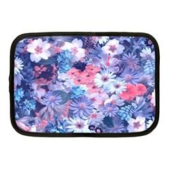 Spring Flowers Blue Netbook Sleeve (medium) by ImpressiveMoments