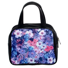 Spring Flowers Blue Classic Handbag (two Sides) by ImpressiveMoments