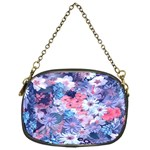 Spring Flowers Blue Chain Purse (One Side)