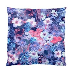 Spring Flowers Blue Cushion Case (single Sided)  by ImpressiveMoments