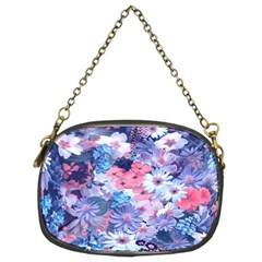 Spring Flowers Blue Chain Purse (two Sided)  by ImpressiveMoments