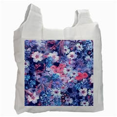 Spring Flowers Blue Recycle Bag (two Sides) by ImpressiveMoments