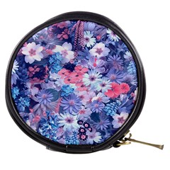 Spring Flowers Blue Mini Makeup Case by ImpressiveMoments