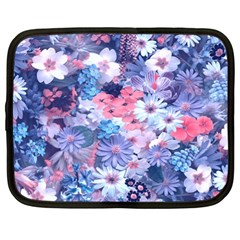 Spring Flowers Blue Netbook Sleeve (xl) by ImpressiveMoments