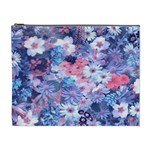 Spring Flowers Blue Cosmetic Bag (XL)