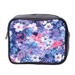 Spring Flowers Blue Mini Travel Toiletry Bag (Two Sides)