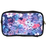 Spring Flowers Blue Travel Toiletry Bag (One Side)