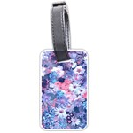 Spring Flowers Blue Luggage Tag (Two Sides)