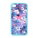 Spring Flowers Blue Apple iPhone 4 Case (Color)