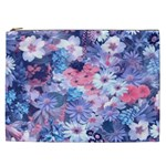 Spring Flowers Blue Cosmetic Bag (XXL)