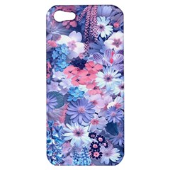 Spring Flowers Blue Apple Iphone 5 Hardshell Case by ImpressiveMoments