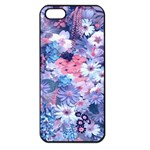 Spring Flowers Blue Apple iPhone 5 Seamless Case (Black)