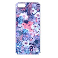Spring Flowers Blue Apple Iphone 5 Seamless Case (white) by ImpressiveMoments