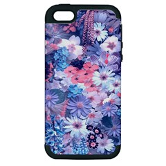 Spring Flowers Blue Apple Iphone 5 Hardshell Case (pc+silicone) by ImpressiveMoments