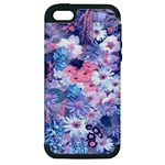 Spring Flowers Blue Apple iPhone 5 Hardshell Case (PC+Silicone)
