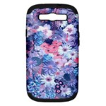 Spring Flowers Blue Samsung Galaxy S III Hardshell Case (PC+Silicone)