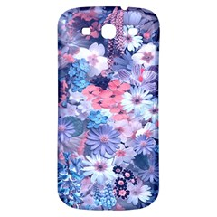 Spring Flowers Blue Samsung Galaxy S3 S Iii Classic Hardshell Back Case by ImpressiveMoments