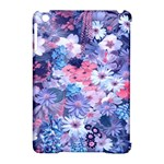 Spring Flowers Blue Apple iPad Mini Hardshell Case (Compatible with Smart Cover)