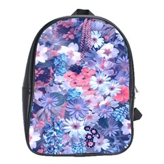 Spring Flowers Blue School Bag (xl) by ImpressiveMoments