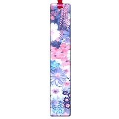 Spring Flowers Blue Large Bookmark by ImpressiveMoments
