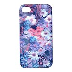 Spring Flowers Blue Apple iPhone 4/4S Hardshell Case with Stand