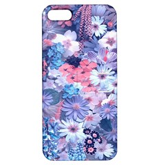 Spring Flowers Blue Apple Iphone 5 Hardshell Case With Stand by ImpressiveMoments