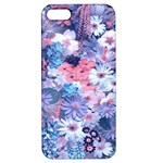 Spring Flowers Blue Apple iPhone 5 Hardshell Case with Stand