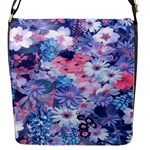 Spring Flowers Blue Flap Closure Messenger Bag (Small)