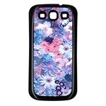 Spring Flowers Blue Samsung Galaxy S3 Back Case (Black)