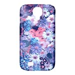 Spring Flowers Blue Samsung Galaxy S4 Classic Hardshell Case (PC+Silicone)