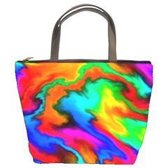 Crazy Effects  Bucket Handbag by ImpressiveMoments