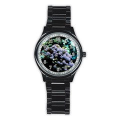 Aquarium Style Sport Metal Watch (black) by WonderfulDreamPicture
