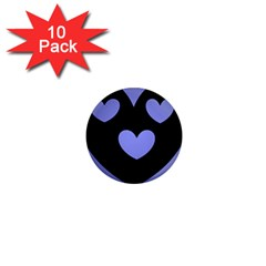Lovely Heart 1  Mini Button Magnet (10 Pack) by WonderfulDreamPicture