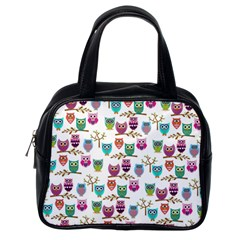 Happy Owls Classic Handbag (one Side) by Ancello