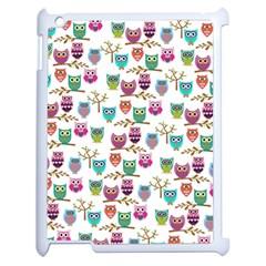 Happy Owls Apple Ipad 2 Case (white) by Ancello