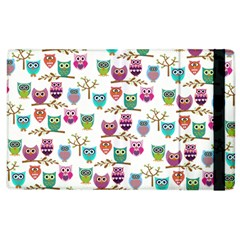 Happy Owls Apple Ipad 3/4 Flip Case by Ancello