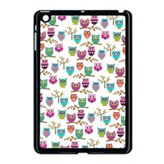Happy Owls Apple Ipad Mini Case (black) by Ancello