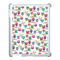 Happy Owls Apple Ipad 3/4 Case (white) by Ancello