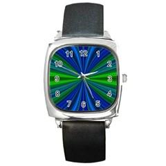 Design Square Leather Watch by Siebenhuehner