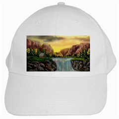 Brentons Waterfall   Ave Hurley   Artrave   White Baseball Cap by ArtRave2